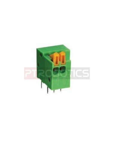 Bloco Terminal 2P Verde Clamp