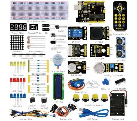 Kit de Iniciação Avançado com Arduino Uno Keyestudio