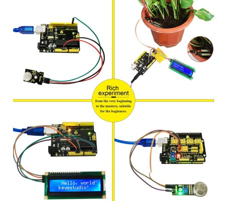 Kit de Monotorização Ambiental PM2.5 para Arduino Keyestudio | Kit Arduino |