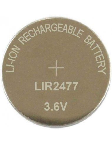 LIR2477 Li-ion Rechargeable Battery 3.6V 180mAh   Baterias Litium  