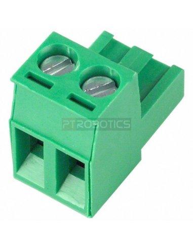 Terminal Block Plug 2Way Verde | Terminal Blocks |