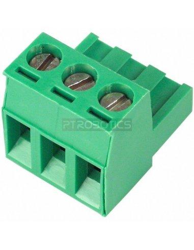 Terminal Block Plug 3Way Verde   Terminal Blocks  