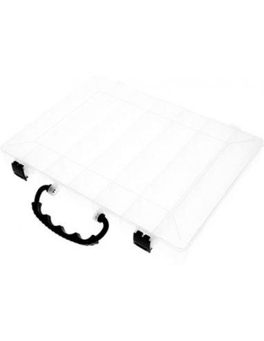 Storage Box 310x225x40mm w/ 35 Movable Compartments - Transparent