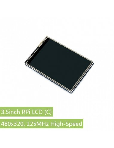 3.5 inch 480x320 Touch Screen TFT LCD for Raspberry Pi - 125MHz High-Speed SPI | LCD Raspberry Pi |