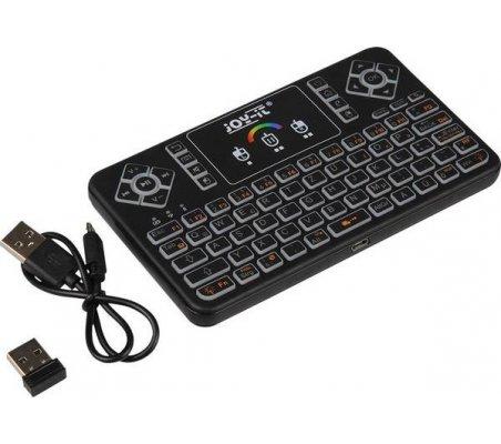 Mini 2.4G Multi-functional RGB Wireless Keyboard For Raspberry Pi - Black   Teclados Ratos Raspberry Pi  