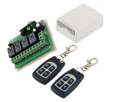 12V 4CH Channel 315Mhz Wireless Remote Control Switch w/ 2 Transmitter | 315Mhz e 433Mhz |