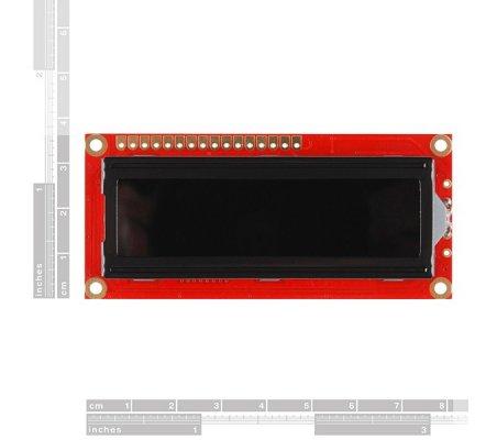 Basic 16x2 Character LCD - Branco on Black | LCD Alfanumerico |