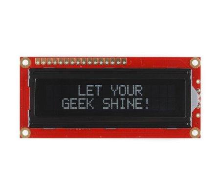 Basic 16x2 Character LCD - White on Black