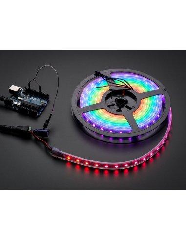 Fita Led RGB WS2812B 60 5050 5V Black - 1mt