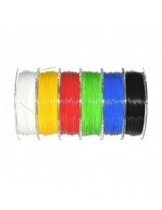 Filamento PLA 1.75mm 6x330g - Amarelo, Azul, Branco, Preta, Verde e Vermelho