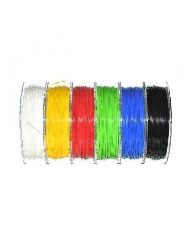 Filamento PLA 1.75mm 6x330g - Amarelo, Azul, Branco, Preta, Verde e Vermelho | Filamento 3D |