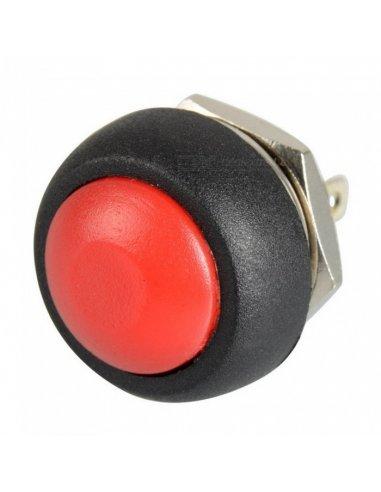 Push Button Domed Head Momentary 12mm - Vermelho | Push Button |