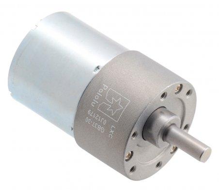 Motor com Caixa Redutora 100:1 37Dx57L mm 24V (pinhão helicoidal)   Motor DC com Engrenagens  