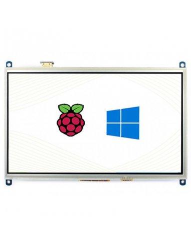 Ecrã LCD IPS Táctil Resistivo 10.1 HDMI 1024×600   LCD Raspberry Pi  