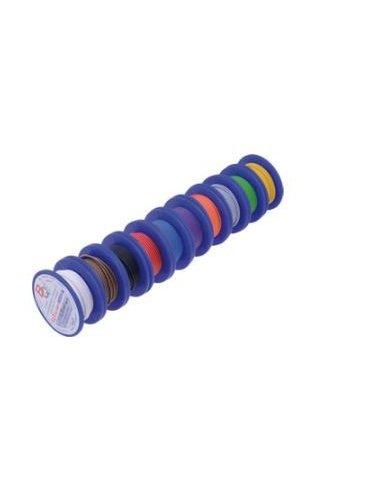 Conjunto de Fio Multifilar 0.75mm² Ø1.9mm 5mt/Bobine - 10 Cores