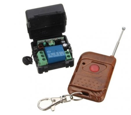 12V Single Channel 315Mhz Wireless Remote Control Switch Self-Locking