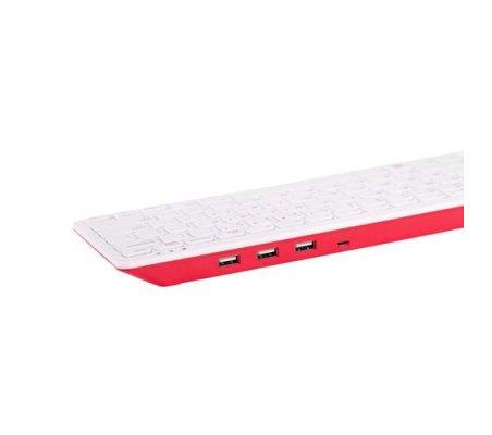 Teclado Oficial Raspberry Pi Versão PT - Vermelho e Branco