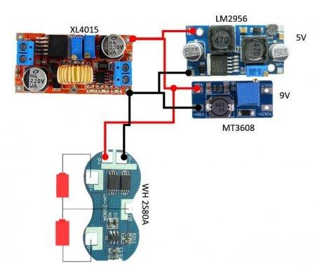 Módulo Conversor DC-DC Step-Up 2-24V para 5-28V 2A - MT3608