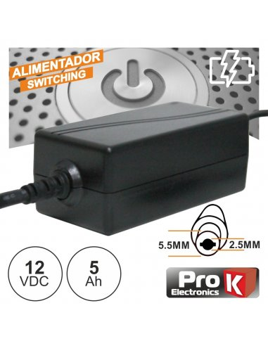Power Supply - 12V 5A | Fonte de Alimentação |