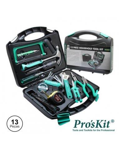 Pro'skit PK-2028T Mala de Ferramentas Profissional - 13 Peças | kit Ferramentas |