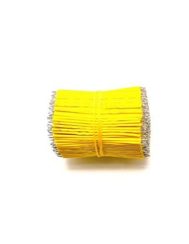 Cabo Jumper Estanhado 24AWG 20cm - Amarelo | Jumper Wires |