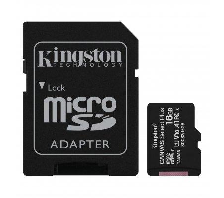 Cartão Kingston Canvas 16GB MicroSDHC UHS-I A1 (Class 10) | Noobs | Cartões Memória | Kingston