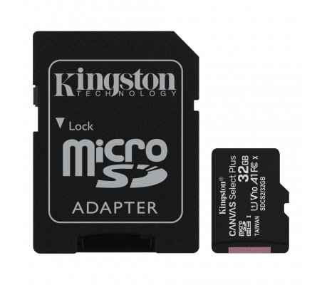 Cartão Kingston Canvas 32GB Select Plus MicroSDHC UHS-I A1 (Class 10) - Raspberry Pi OS | Cartões Memória | Kingston