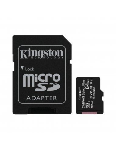 Cartão Kingston Canvas 64GB Select Plus MicroSDHC UHS-I A1 (Class 10) Kingston