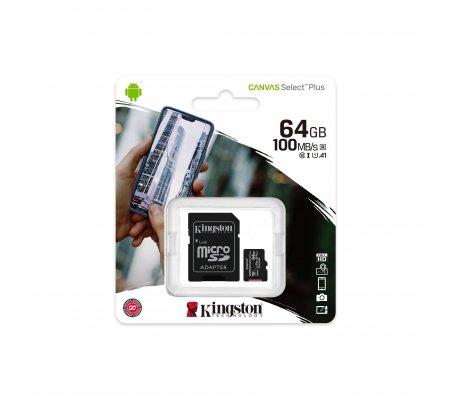 Cartão Kingston Canvas 64GB Select Plus MicroSDHC UHS-I A1 (Class 10) - Noobs Kingston
