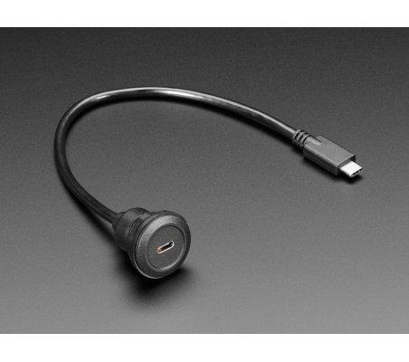 Extensão USB C Painel Redondo para USB C Macho - 30cm   Cabos de Dados   Cabo HDMI   Cabo USB  