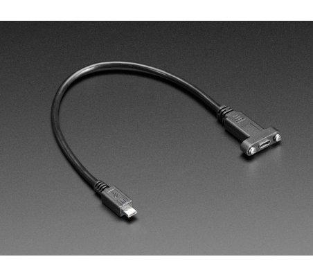 Cabo USB C Painel para Micro USB - 30cm | Cabos de Dados | Cabo HDMI | Cabo USB |