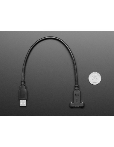 Cabo USB C Painel para USB A - 30cm | Cabos de Dados | Cabo HDMI | Cabo USB |