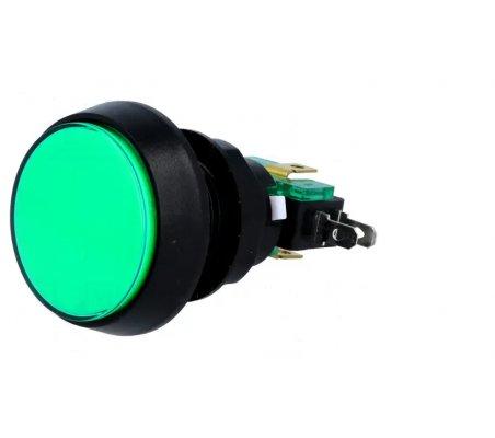 Interruptor de Pressão ON-(ON) SPDT 10A/250Vac - Verde | Push Button |
