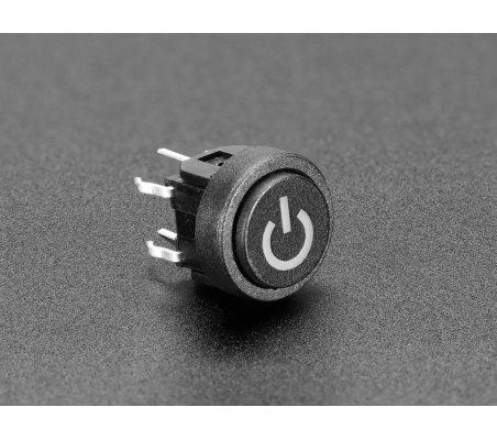 Mini Botão de Pressão Momentâneo - Vermelho