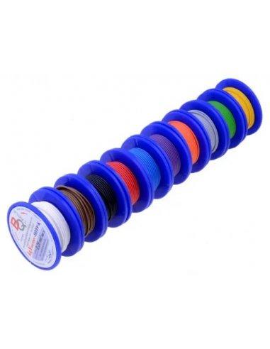 Conjunto de Fio Multifilar 0.5mm² Ø1.6mm 10mt/Bobine - 10 Cores