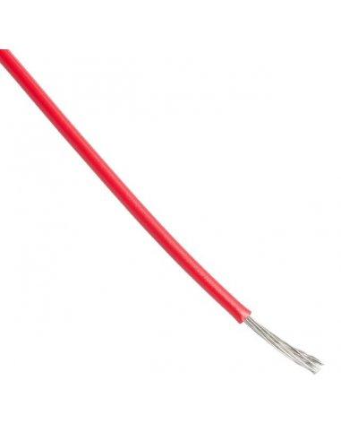 Fio Multifilar 28AWG Ø0.89mm Vermelho - 1mt | Fio electrico |