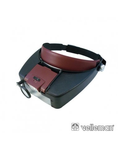 Velleman VTMG13 Lupa de Cabeça com Iluminação LED | Lupa Eletronica |
