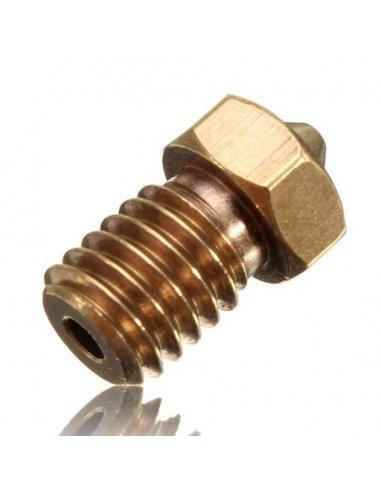 V6 Bocal de Cobre 0.4mm para Filamento de 1.75mm   Material Impressão 3D  