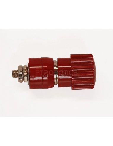Isolated binding post - Vermelho- 4mm - 24A | Teste e Medida |