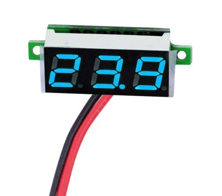 "Voltímetro 2.5-30V LED Digital 0.36"" - Azul"