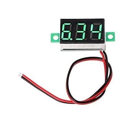 Voltímetro 2.5-30V LED Digital 0.36 - Verde   Medidores de Painel  