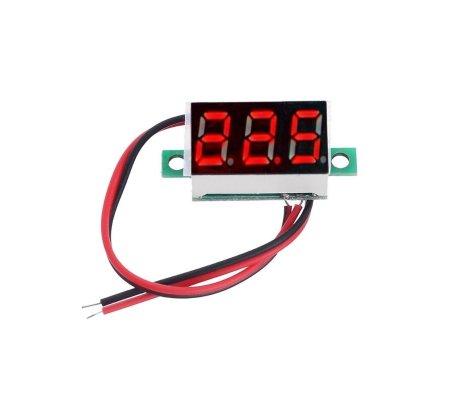 Voltímetro 2.5-30V LED Digital 0.36 - Vermelho | Medidores de Painel |