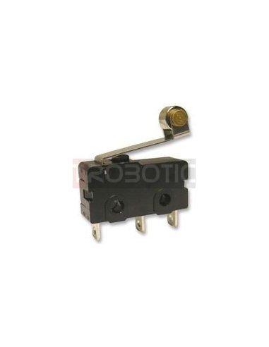 MicroSwitch 5A Roller Preto | MicroSwitch |