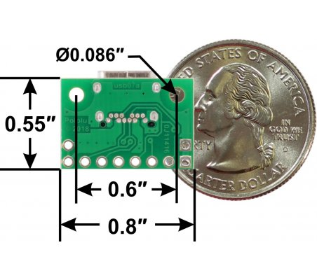 Placa Breakout USB 2.0 Type-C