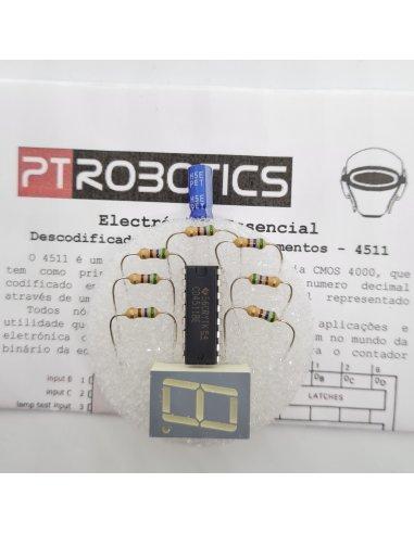 Electrónica Essencial - Descodificador BCD para 7-Segmentos - 4511 | Electronica Essencial |