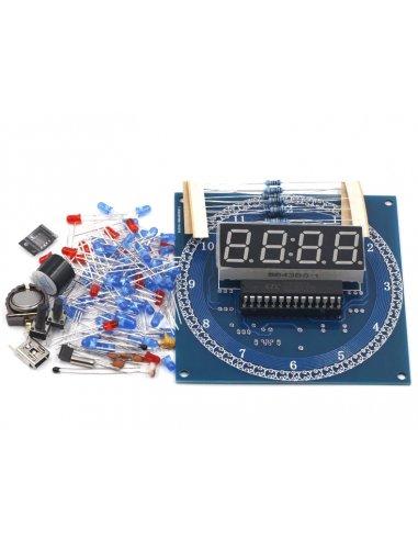 Kit de Relógio Eletrónico com Leds em Rotação DS1302 DIY