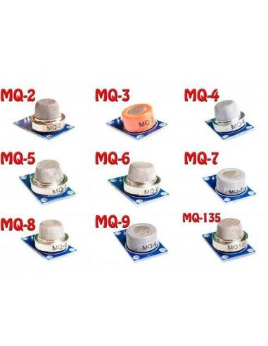 Conjunto de Sensores de Gás MQ-X - 9 Peças