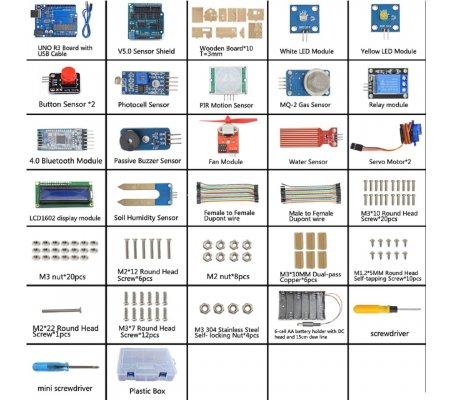 Kit de Aprendizagem Educacional - Casa Inteligente | Kit Arduino |