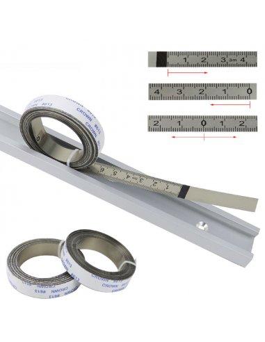 Fita Métrica de Aço com Adesivo - 1mt | Ferramentas de medida |