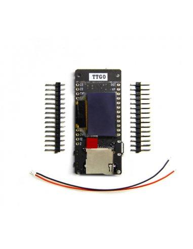 Módulo TTGO T2 ESP32 WiFi 0.95 OLED Cartão SD   WiFi  